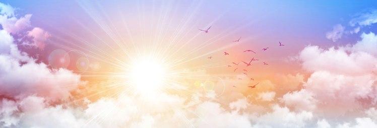 Sun-and-birds-breaking-through-white-clouds-shutterstock_251475001